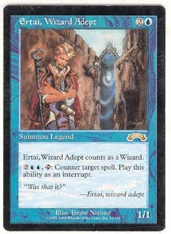 Magic the Gathering Exodus Single Ertai, Wizard Adept UNPLAYED (NM/MT)