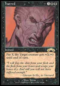 Magic the Gathering Exodus Single Hatred UNPLAYED (NM/MT)