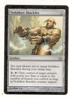 Magic the Gathering Fifth Dawn Single Vedalken Shackles - SLIGHT PLAY (SP)