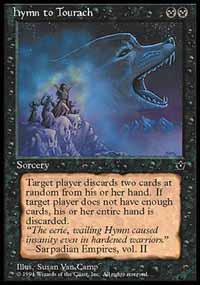 Magic the Gathering Fallen Empires Single Hymn to Tourach UNPLAYED (NM/MT) - Van Camp