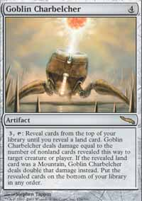 Magic the Gathering Mirrodin Single Goblin Charbelcher LIGHT PLAY (NM)