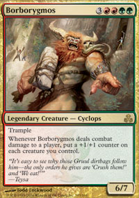 Magic the Gathering Guildpact Single Borborygmos Foil