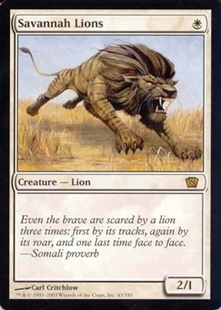 Magic the Gathering 8th Ed. 4x6 Single Savannah Lions