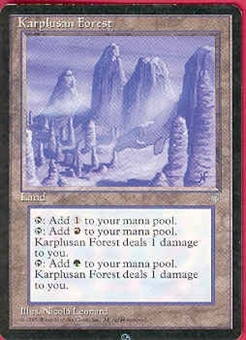 Magic the Gathering Ice Age Single Karplusan Forest LIGHT PLAY (NM)