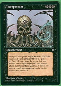 Magic the Gathering Ice Age Single Necropotence - SLIGHT PLAY (SP)