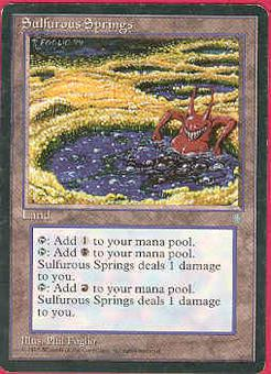 Magic the Gathering Ice Age Single Sulfurous Springs LIGHT PLAY (NM)