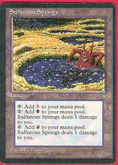 Magic the Gathering Ice Age Single Sulfurous Springs MODERATE PLAY (VG/EX)