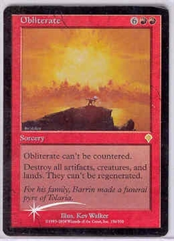 Magic the Gathering Invasion Single Obliterate FOIL