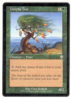 Magic the Gathering Invasion Single Utopia Tree UNPLAYED (NM/MT)