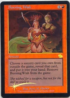 Magic the Gathering Judgment Single Burning Wish Foil - SLIGHT PLAY (SP)