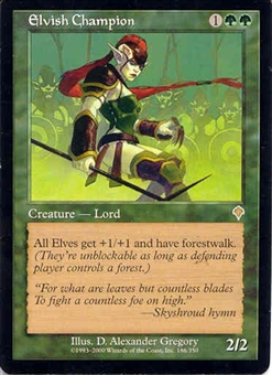 Magic the Gathering Invasion Single Elvish Champion LIGHT PLAY (NM)