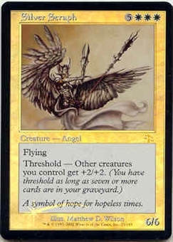 Magic the Gathering Judgment Single Silver Seraph Foil