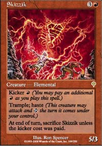 Magic the Gathering Invasion Single Skizzik - NEAR MINT (NM)