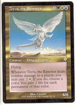 Magic the Gathering Invasion Single Treva, the Renewer - NEAR MINT (NM)