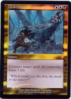 Magic the Gathering Invasion Single Undermine Foil