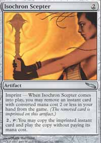 Magic the Gathering Mirrodin Single Isochron Scepter LIGHT PLAY (NM)