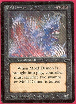 Magic the Gathering Legends Single Mold Demon - SLIGHT PLAY (SP)