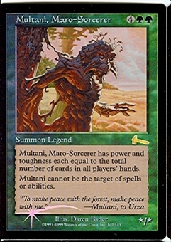 Magic the Gathering Urza's Legacy Single Multani, Maro-Sorcerer FOIL