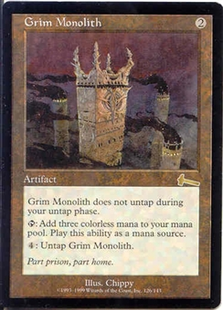 Magic the Gathering Urza's Legacy Single Grim Monolith - SLIGHT PLAY (SP)