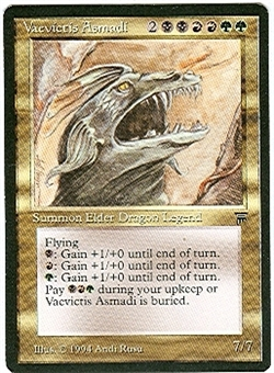 Magic the Gathering Legends Single Vaevictis Asmadi - SLIGHT PLAY (SP)