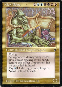 Magic the Gathering Legends Single Nicol Bolas - NEAR MINT (NM)
