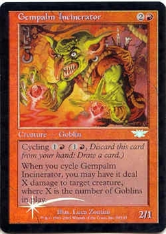 Magic the Gathering Legions Single Gempalm Incinerator Foil