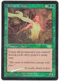 Magic the Gathering Legions Single Seedborn Muse Foil