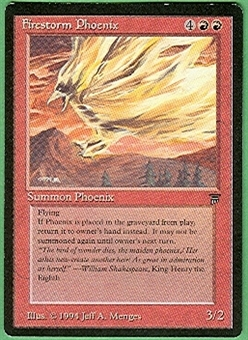 Magic the Gathering Legends Single Firestorm Phoenix - SLIGHT PLAY (SP)