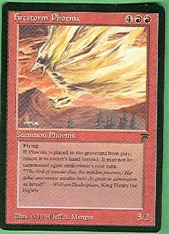 Magic the Gathering Legends Single Firestorm Phoenix UNPLAYED (NM/MT)