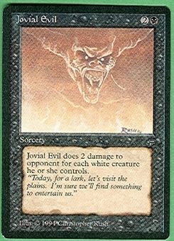 Magic the Gathering Legends Single Jovial Evil - NEAR MINT (NM)