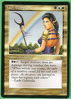 Magic the Gathering Legends Single Lady Evangela UNPLAYED (NM/MT)
