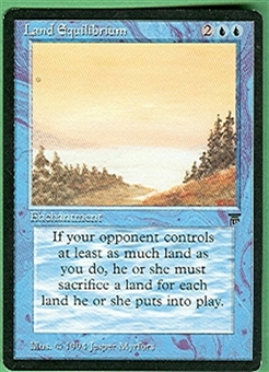 Magic the Gathering Legends Single Land Equilibrium UNPLAYED (NM/MT)