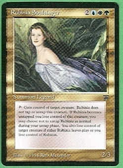 Magic the Gathering Legends Single Rubinia Soulsinger - NEAR MINT (NM)