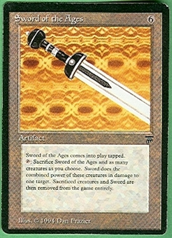 Magic the Gathering Legends Single Sword of the Ages - SLIGHT PLAY (SP)