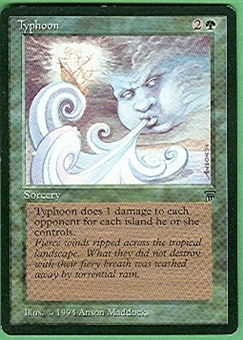 Magic the Gathering Legends Single Typhoon - SLIGHT PLAY (SP)