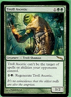 Magic the Gathering Mirrodin Single Troll Ascetic LIGHT PLAY (NM)