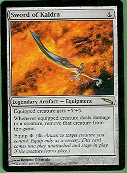 Magic the Gathering Mirrodin Single Sword of Kaldra LIGHT PLAY (NM)