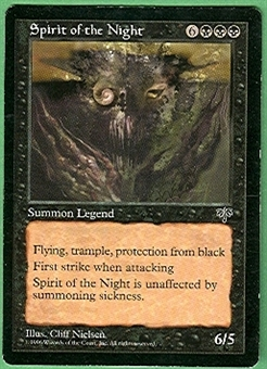 Magic the Gathering Mirage Single Spirit of the Night - SLIGHT PLAY (SP)