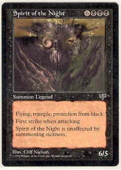 Magic the Gathering Mirage Single Spirit of the Night MODERATE PLAY (VG/EX)