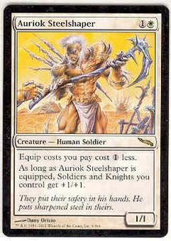 Magic the Gathering Mirrodin Single Auriok Steelshaper - NEAR MINT (NM)