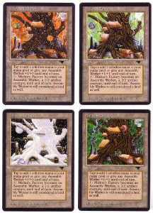 Magic the Gathering Antiquities 4x LOT Mishra's Factory (all 4 seasons!) - SLIGHT/MODERATE PLAY