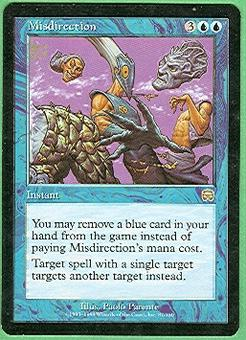 Magic the Gathering Mercadian Masques Single Misdirection - SLIGHT PLAY (SP)