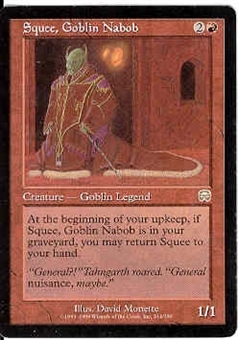 Magic the Gathering Mercadian Masques Single Squee, Goblin Nabob - SLIGHT PLAY (SP)