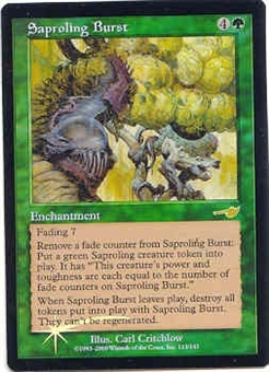 Magic the Gathering Nemesis Single Saproling Burst Foil