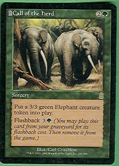 Magic the Gathering Odyssey Singles 4x Call of the Herd - SLIGHT PLAY (SP)