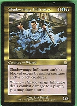 Magic the Gathering Odyssey Single Shadowmage Infiltrator - SLIGHT PLAY (SP)