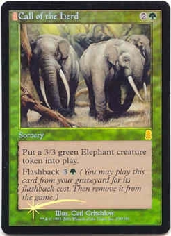 Magic the Gathering Odyssey Single Call of the Herd Foil