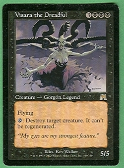 Magic the Gathering Onslaught Single Visara, the Dreadful - SLIGHT PLAY (SP)
