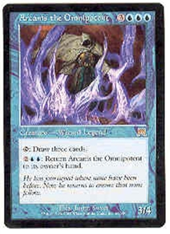 Magic the Gathering Onslaught Single Arcanis the Omnipotent LIGHT PLAY (NM)