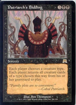 Magic the Gathering Onslaught Single Patriarch's Bidding UNPLAYED (NM/MT)